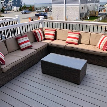 new composite deck w marina view